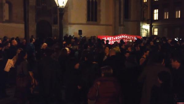 Protest Izdajnikau Zagrebu - Sputnik Srbija