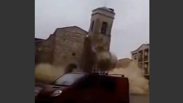 300-year-old Church collapses in Spain - Sputnik Srbija