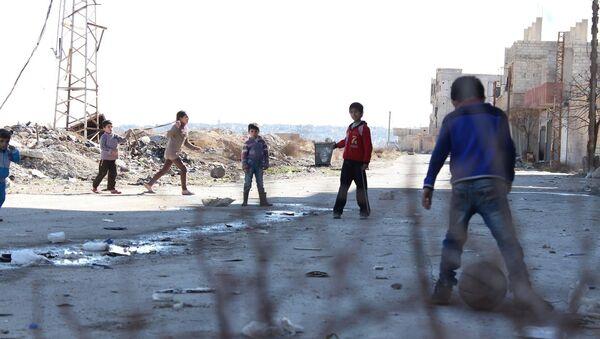 Deca se igraju u Damasku - Sputnik Srbija