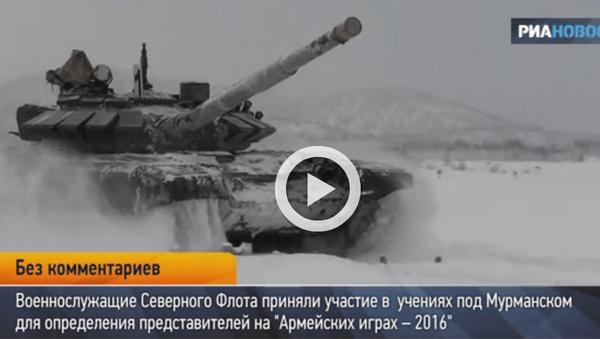 Тенк Т-72 маневар на снегу - Sputnik Србија