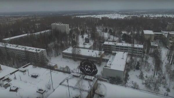 Drone Footage Of Pripyat In The Snow - Chernobyl January 2016 - Sputnik Srbija