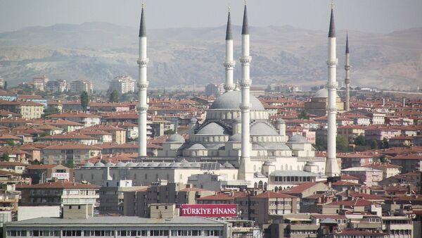 Pogled na Ankaru i najveću džamiju u tom gradu Kodžatepe - Sputnik Srbija