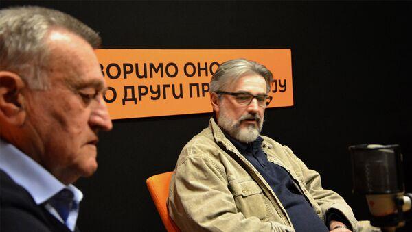 Advokat Branislav Tapušković i profesor Branko Rakić - Sputnik Srbija