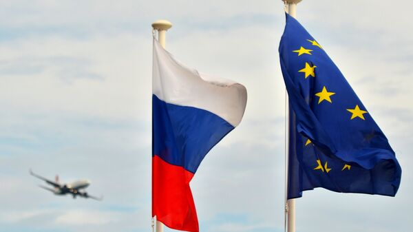 Zastave Rusije i EU - Sputnik Srbija