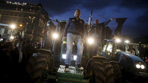 Протест пољопривредника, Грчка - Sputnik Србија