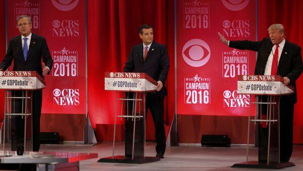 Predsednički kandidati Džeb Buš, Ted Kruz i Donald Tramp - Sputnik Srbija