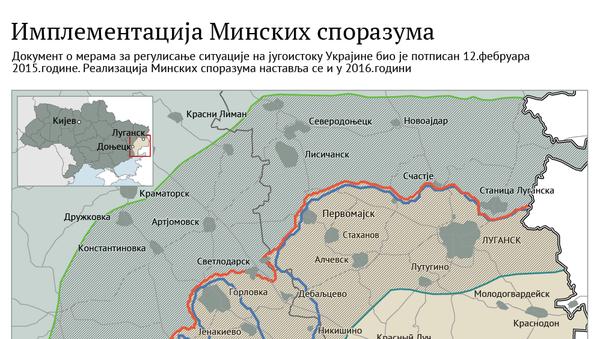 Implementacija Minskih sporazuma ćir - Sputnik Srbija