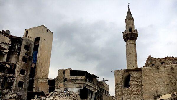 Uništen Stari grad u Alepu, Sirija - Sputnik Srbija