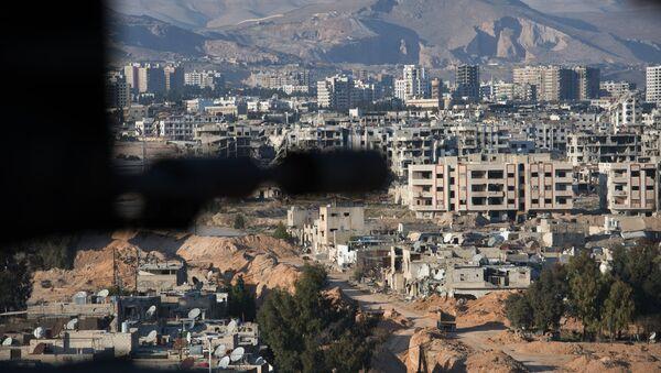 Deo grada Damaska koji kontrolišu teroristi Nusra fronta, Sirija - Sputnik Srbija
