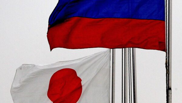 Zastave Rusije i Japana - Sputnik Srbija