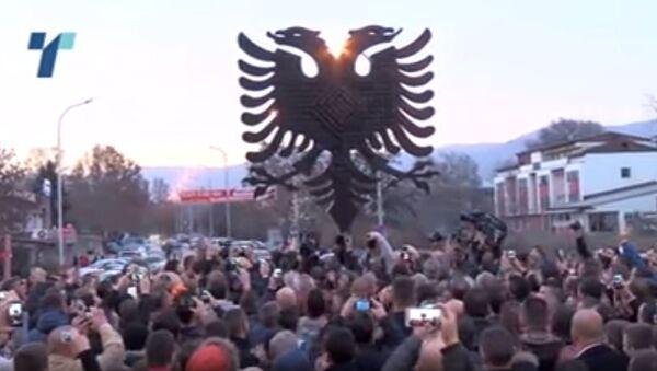 Dvoglavi orao, spomenik u Skoplju - Sputnik Srbija