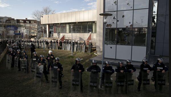 Косовска полиција уочи антивладиних протеста у Приштини - Sputnik Србија