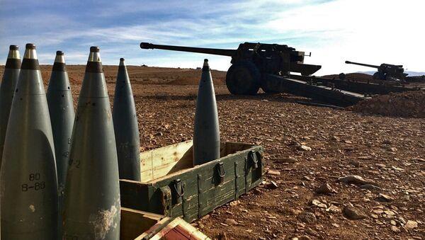 Сиријска самоодбрана у хришћанском селу Садад, провинција Хомс у Сирији - Sputnik Србија