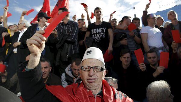 Protesti u Prištini protiv tzv. kosovske vlade - Sputnik Srbija