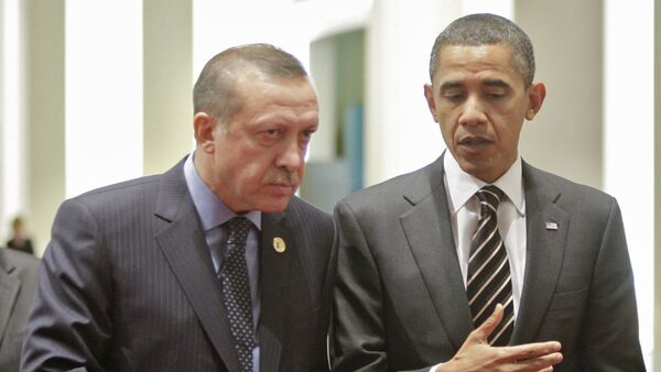 Predsednik Turske Redžep Tajip Erdogan i predsednik SAD Barak Obama - Sputnik Srbija