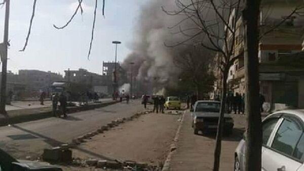 Eksplozija u južnom predgrađu Damaska. - Sputnik Srbija