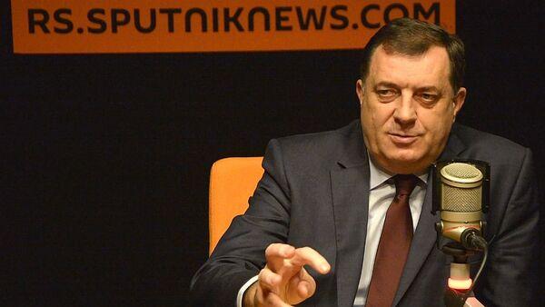 Predsednik RS Milorad Dodik u poseti Sputnjiku - Sputnik Srbija