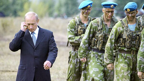 Владимир Путин са припадницима специјалних снага Русије - Sputnik Србија