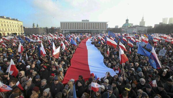 Poljska, protest protiv Vlade - Sputnik Srbija