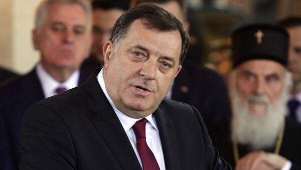 Milorad Dodik govori na svečanom prijemu povodom Dana Republike Srpske u Beogradu. - Sputnik Srbija