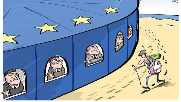 migranti_nacrt_karikatura - Sputnik Srbija