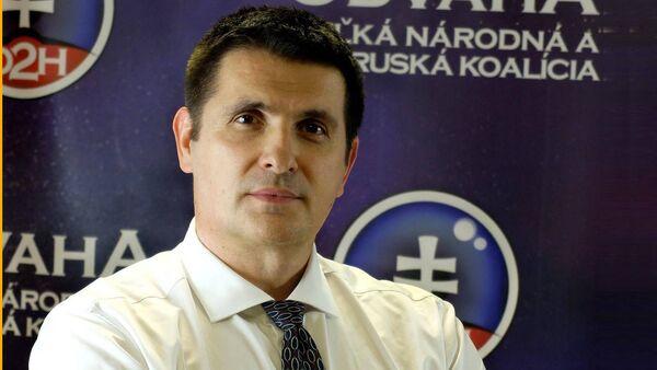 """Јан Павлиш, лидер покрета """"Храброст - велика народна и проруска коалиција"""" - Sputnik Србија"""