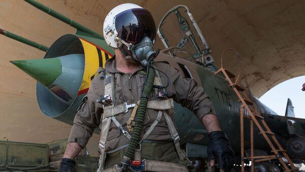 Sirijska vazduhoplovne snage u vojnoj bazi u provinciji Homs - Sputnik Srbija