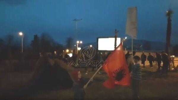 Скопље, протест против дизања крста - Sputnik Србија