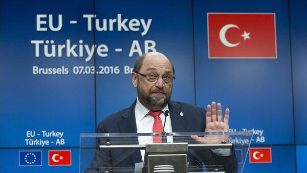 Predsednik EP Martin Šulc  na Samitu EU-Turska u Briselu - Sputnik Srbija