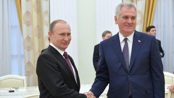 Predsednik Rusije Vladimir Putin i predsednik Srbije Tomislav Nikolić u Kremlju - Sputnik Srbija