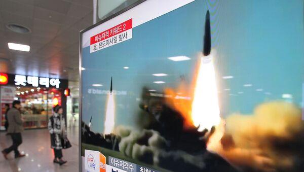 Јужнокорејски медији извештавају о лансирању ракета Северне Кореје - Sputnik Србија