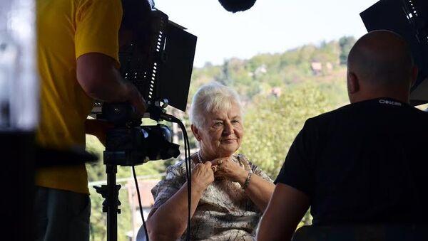 Јелена Радојчић Бухач, преживела логор Стара Градишка. Екипа филма прошла је посебне припреме за снимање, било је и оних који су одустали, нису имали снаге да слушају све страхоте кроз које су ови људи прошли. - Sputnik Србија