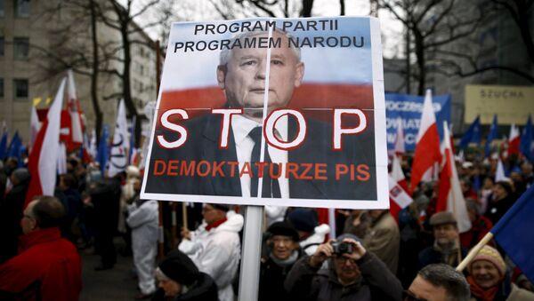 Пољска, Варшава, демонстрације против Владе - Sputnik Србија