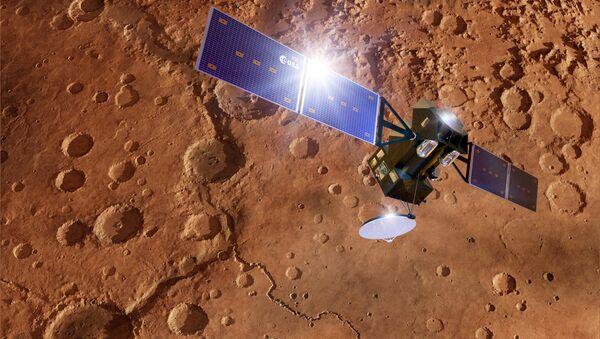 Egzomars TGO na Marsu, ilustracija - Sputnik Srbija
