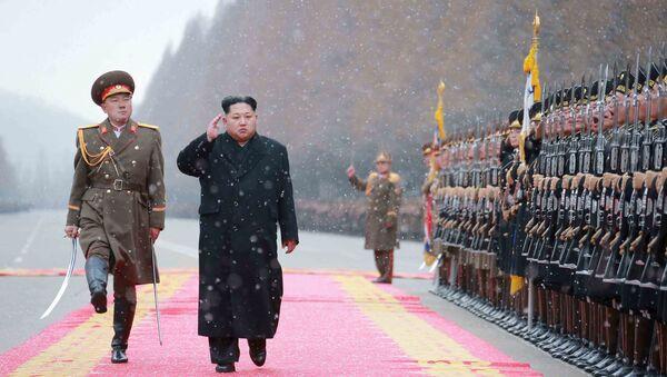 Лидер Северне Кореје Ким Џонг Ун - Sputnik Србија