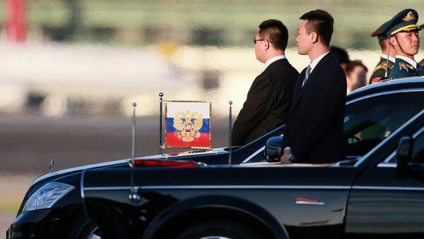 Pratnja Vladimira Putina - Sputnik Srbija