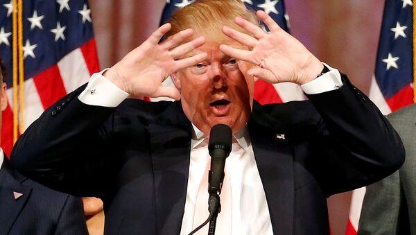 Фаворит за кандидата Републиканске странке на председничким изборима у САД Доналд Трамп - Sputnik Србија