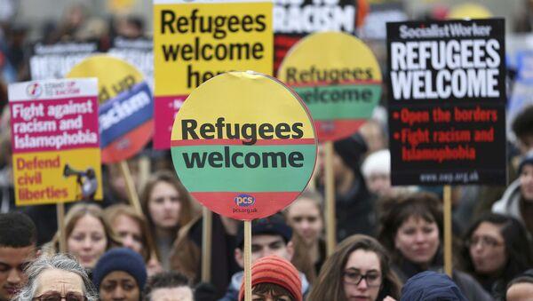 Protest u Londonu protiv sporazuma EU i Turske - Sputnik Srbija