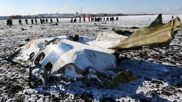 Olupine putničkog aviona boing 737-800 na aerodromu u Rostovu na Donu - Sputnik Srbija