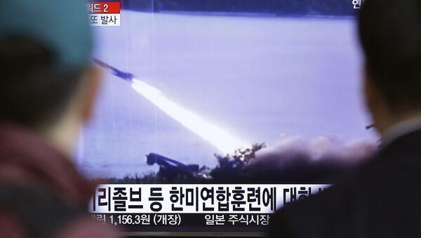 Reportaža južnokorejskih medija o lansiranju balističke rakete Severne Koreje - Sputnik Srbija