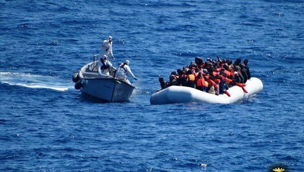Migranti u Sredozemnom moru - Sputnik Srbija
