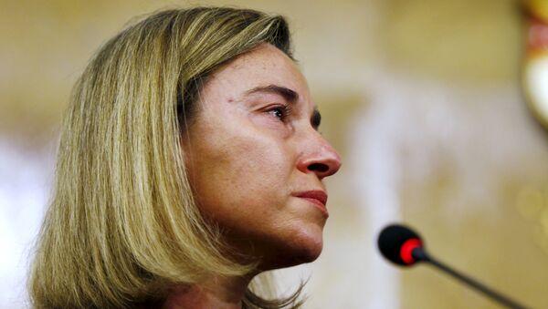Reakcija Federike Mogerini na vest o terostičkom napadu u Briselu. - Sputnik Srbija