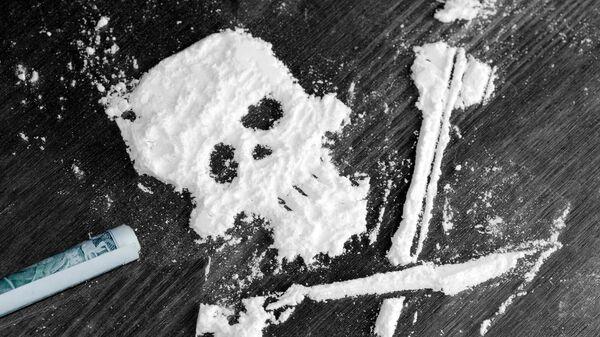 Prah kokaina u obliku lobanje - Sputnik Srbija