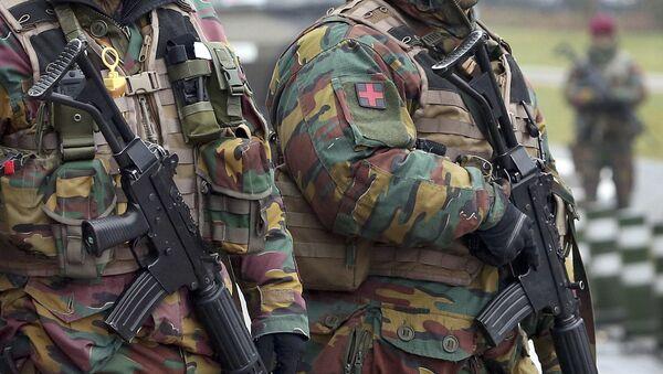 Belgijske snage bezbednosti na ulicima posle terorističkog napada u Briselu - Sputnik Srbija