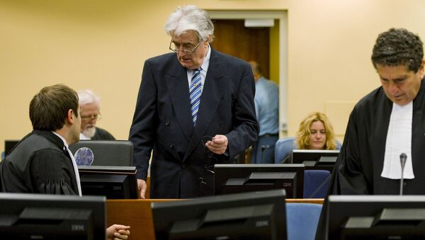 Radovan Karadžić u haškoj sudnici - Sputnik Srbija