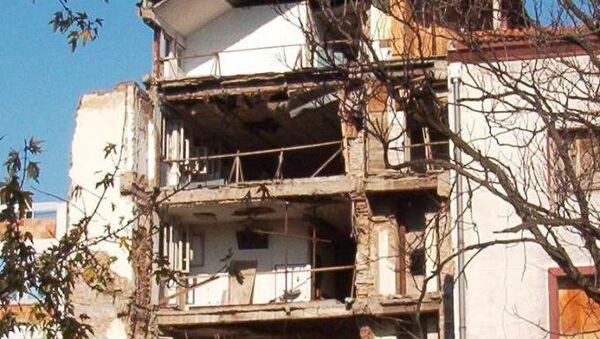 Зграда РТС-а у Београду након бомбардовања - Sputnik Србија