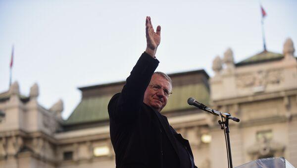 Vojislav Šešelj na Trgu republike povodom obeležavanja 17 godina od NATO bombardovanja - Sputnik Srbija