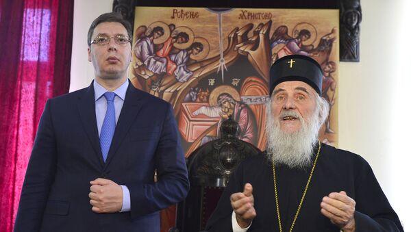 Premijer Aleksandar Vučić i patrijarh srpski Irinej - Sputnik Srbija