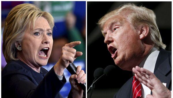 Хилари Клинтон и Доналд Трамп - Sputnik Србија