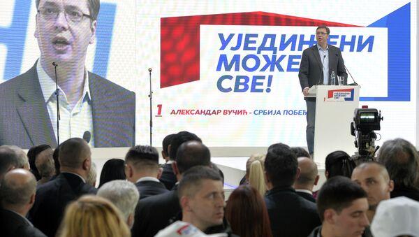 Aleksandar Vučić na konvenciji SNS u Leskovcu - Sputnik Srbija